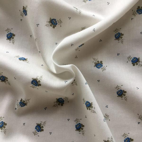 tissu fleurs bleues exclusif